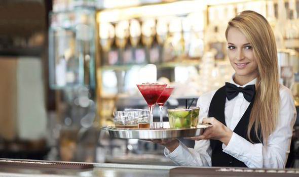 Blonde-waitress
